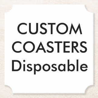 """Posavasos De Papel Personalizado 4"""" prácticos de costa disponibles"""