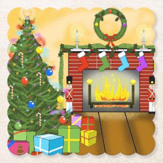 Posavasos De Papel Prácticos de costa del navidad de la Nochebuena