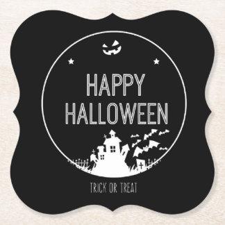 Posavasos De Papel Truco o invitación del feliz Halloween