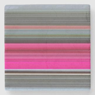 Posavasos De Piedra #1 abstracto: Cerise y gris