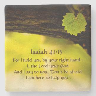 Posavasos De Piedra 41:13 de Isaías le detengo al lado de su biblia
