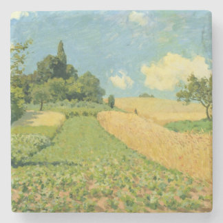 Posavasos De Piedra Alfred Sisley el | el campo de maíz