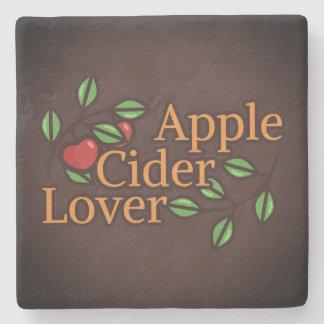 Posavasos De Piedra Amante de la sidra de Apple