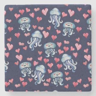 Posavasos De Piedra Amor de las medusas