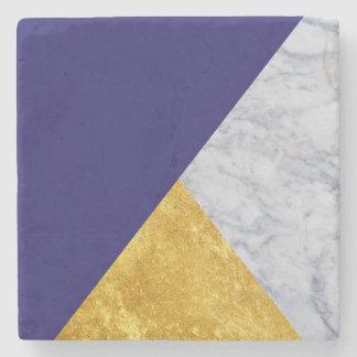 Posavasos De Piedra Azul + Práctico de costa de mármol de la piedra