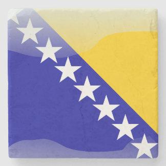 Posavasos De Piedra Bandera brillante bosnio