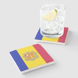 Posavasos De Piedra Bandera patriótica de Andorra