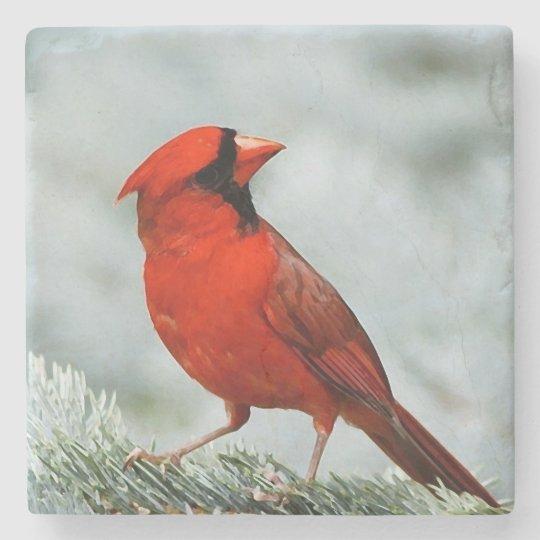 Posavasos De Piedra Bird red _coaster