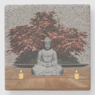 Posavasos De Piedra Buda en un cuarto - 3D rinden