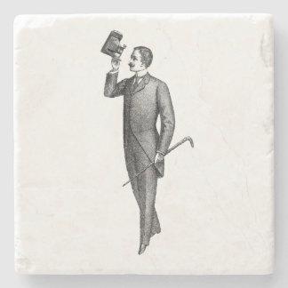 Posavasos De Piedra Caballero Selfie del Victorian