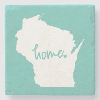 Posavasos De Piedra Color casero del personalizado de Wisconsin