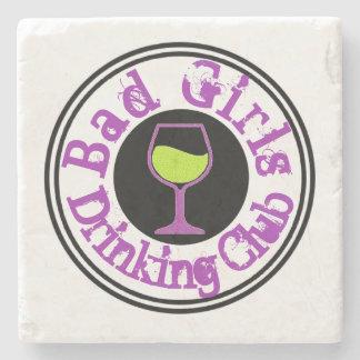 Posavasos De Piedra Copa de vino de consumición del club del mún chica