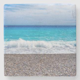 Posavasos De Piedra Costa azul de Sandy del horizonte