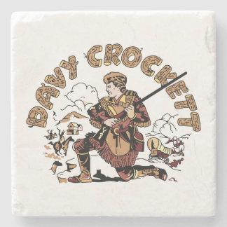 Posavasos De Piedra Davy retro Crockett
