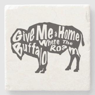 Posavasos De Piedra Déme un hogar en donde el búfalo vaga por el