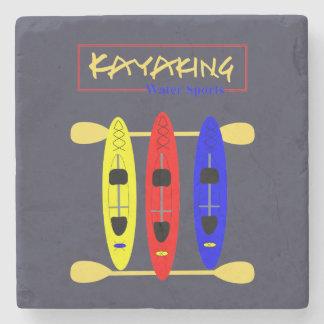 Posavasos De Piedra Deportes acuáticos Kayaking - gráfico temático