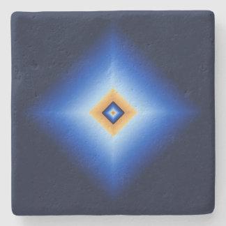 Posavasos De Piedra Diamante del azul y del moreno