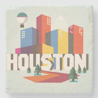 Posavasos De Piedra Diseño del paisaje urbano de Houston, Tejas el |