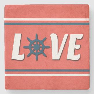 Posavasos De Piedra Diseño náutico del amor