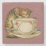Posavasos De Piedra El gato y la tintorería victorianos