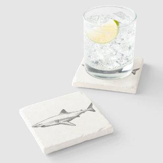 Posavasos De Piedra El hogar de la oficina del tiburón personaliza