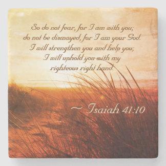 Posavasos De Piedra El verso de la biblia del 41:10 de Isaías no teme