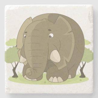 Posavasos De Piedra Elefante del dibujo animado