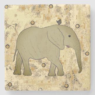 Posavasos De Piedra Elefantes de los prácticos de costa de la piedra