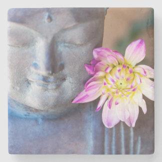 Posavasos De Piedra Estatua de Buda con la dalia