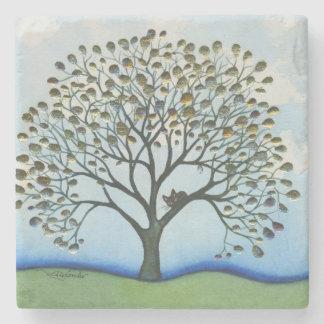 Posavasos De Piedra Gato caprichoso de El Cairo en árbol