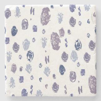 Posavasos De Piedra Gotas de agua abstractas azules y púrpuras