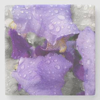 Posavasos De Piedra gotas de agua en el iris