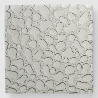 Posavasos De Piedra Gotas de agua en el tejado de cristal