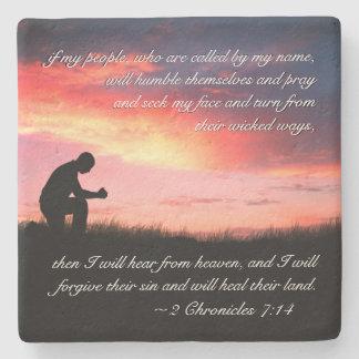 Posavasos De Piedra Hombre del verso de la biblia del 7:14 de 2