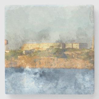 Posavasos De Piedra Isla de Alcatraz en San Francisco California