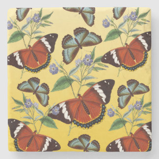 Posavasos De Piedra las mariposas mezclan amarillo