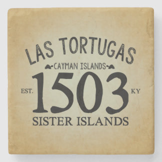 Posavasos De Piedra Las Tortugas EST. 1503 rústico