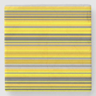 Posavasos De Piedra Líneas/modelo amarillos y grises de las rayas