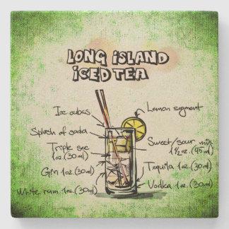 Posavasos De Piedra Long Island heló receta de la bebida del té