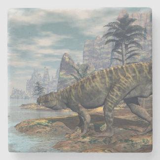 Posavasos De Piedra Los dinosaurios -3D de Batrachotomus rinden