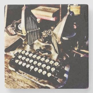 Posavasos De Piedra Máquina de escribir antigua Oliverio #9