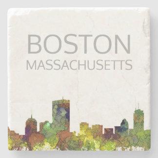 Posavasos De Piedra Mas de Boston. Piel de ante del safari del