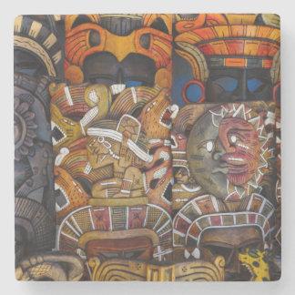 Posavasos De Piedra Máscaras de madera mayas en México