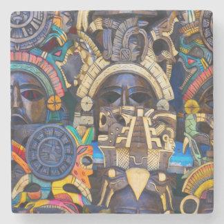 Posavasos De Piedra Máscaras de madera mayas para la venta