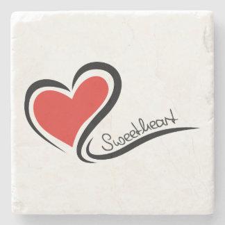 Posavasos De Piedra Mi tarjeta del día de San Valentín del amor