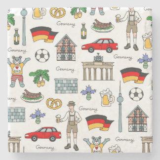 Posavasos De Piedra Modelo de los símbolos de Alemania el  