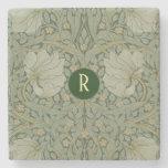 Posavasos De Piedra Monograma Vintage Floral William Morris Pimpernel