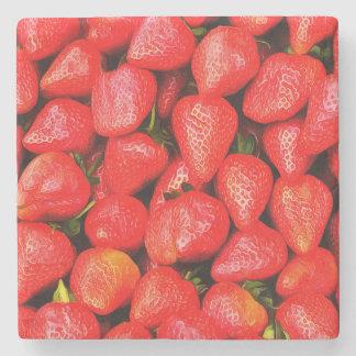 Posavasos De Piedra ¡Muchas fresas!