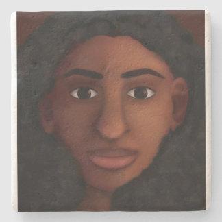 Posavasos De Piedra Observación de la mujer negra