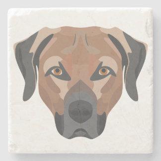 Posavasos De Piedra Perro Brown Labrador del ilustracion